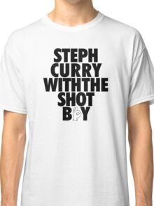 Steph Curry With The Shot Boy [With 3 Sign] Black Classic T-Shirt