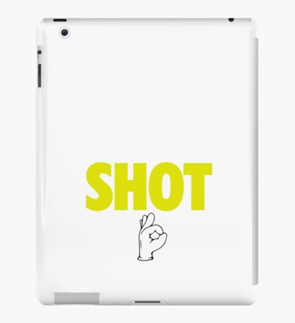 Steph Curry With The Shot Boy [With 3 Sign] White/Gold iPad Case/Skin