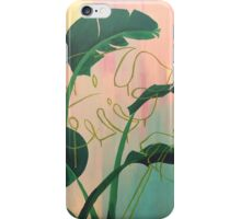 Paradise Found bright medium sized tropical acrylic painting iPhone Case/Skin