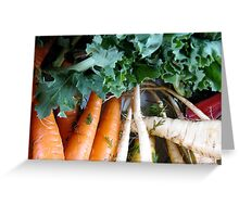 Winter Vegetables Greeting Card