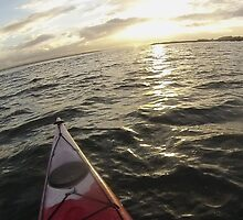 Sea Kayaking into the Sunset by CorMc