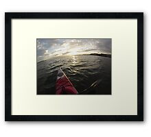 Sea Kayaking into the Sunset Framed Print
