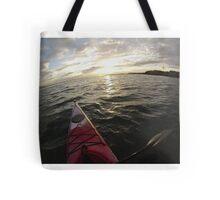 Sea Kayaking into the Sunset Tote Bag