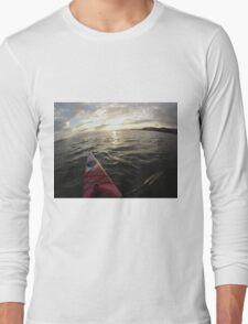 Sea Kayaking into the Sunset Long Sleeve T-Shirt