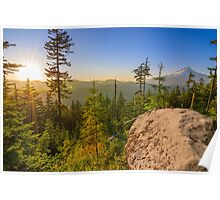 Beautiful Vista of Mount Hood in Oregon, USA. Poster