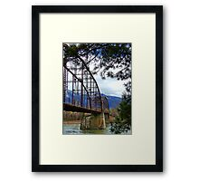 The Old Steel Bridge Framed Print