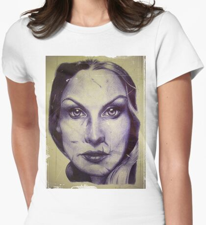 Battered & Blue Womens Fitted T-Shirt