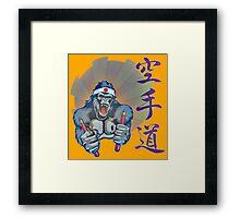 Karate Kong Framed Print