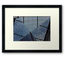 Reflective Ripples of Disorientation Framed Print