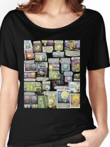Pon and Zi Collage Women's Relaxed Fit T-Shirt