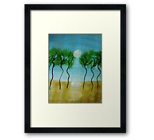 Trees(green) Series #2, watercolor Framed Print