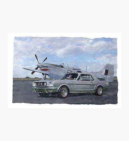 Vintage Mustangs Photographic Print