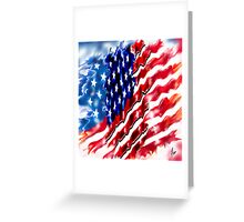 """Old Glory 2"" Greeting Card"