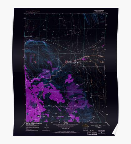 USGS Topo Map Oregon Paisley 281030 1966 24000 Inverted Poster