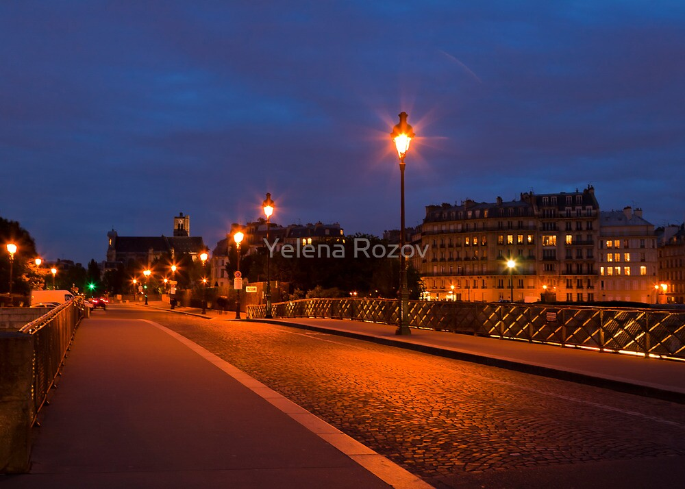 Parisian Street at Night by Yelena Rozov