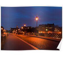 Parisian Street at Night Poster