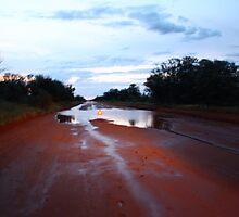 Tanami Road Desert Downpour by katrina-marie