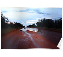 Tanami Road Desert Downpour Poster