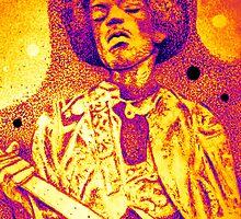 Psychedelic Jimi - Machine Gun by Charles Ezra Ferrell