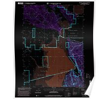USGS Topo Map Oregon Military Crossing 280735 1988 24000 Inverted Poster