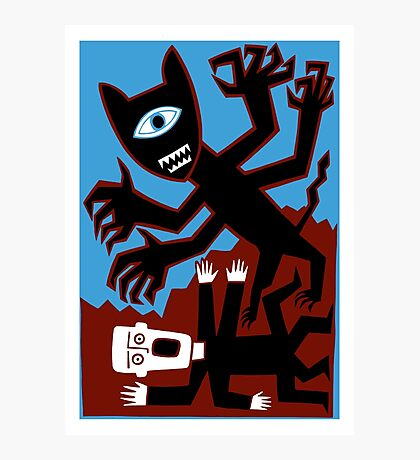 Dig that crazy cat man Photographic Print