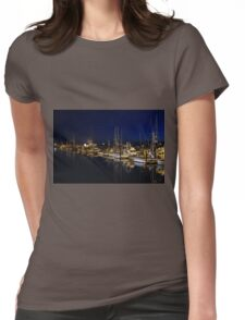 Crescent City harbor Womens Fitted T-Shirt