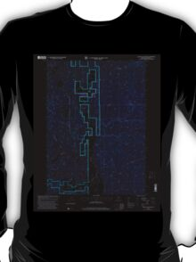 USGS Topo Map Oregon The Bull Pasture 281775 1998 24000 Inverted T-Shirt
