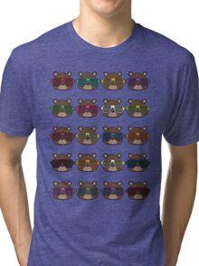 Colourful Boss Bear Tri-blend T-Shirt