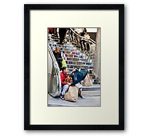 Oxford Street Purchase Framed Print