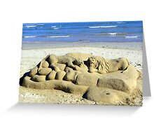 The lonely beach sculptor Greeting Card