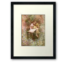 Tired Little Fairy Framed Print