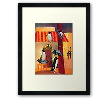 Penguin Cafe Framed Print