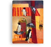 Penguin Cafe Canvas Print