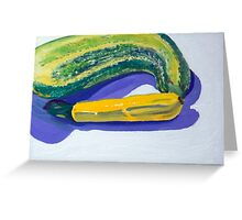 Zuchinis - yellow and green Greeting Card