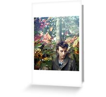 A Boy in Autumn Greeting Card