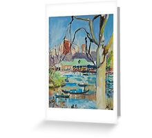 Central Park Boating Lake Greeting Card