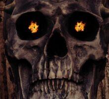 Mechanical Skull Sticker