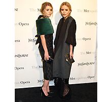 Ashley Olsen and Mary Kate Olsen Photographic Print