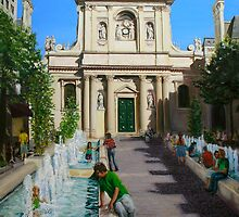 La Sorbonne, Paris, on a very hot day by Helen Imogen Field