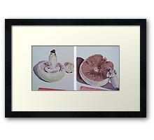 Mushrooms - growing Framed Print