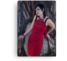 Lauren and the Red Dress Canvas Print