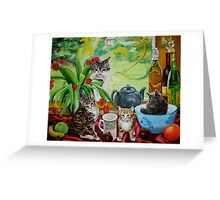 Hamish returns - cats and kittens Greeting Card