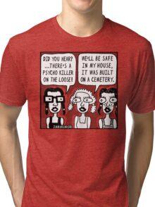 Horror Movie Sleepover Tri-blend T-Shirt