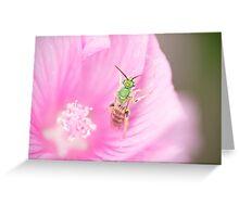 Green Metallic Bee Greeting Card