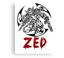 Zed Tribal Canvas Print