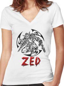 Zed Tribal Women's Fitted V-Neck T-Shirt