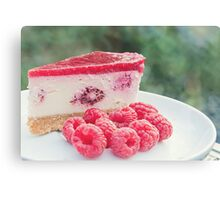 raspberry cheesecake.. Canvas Print