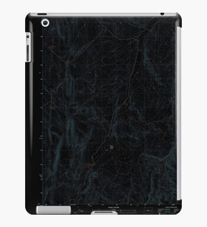USGS Topo Map Oregon Kane Spring Gulch 20110819 TM Inverted iPad Case/Skin