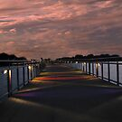 Bridge In The Night (Grays Lake Bridge) by Linda Miller Gesualdo