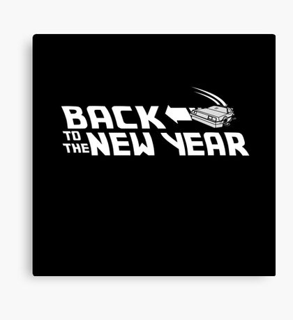 Back to the New Year (Back to the Future) Canvas Print